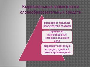 Выразительные возможности словообразовательных средств