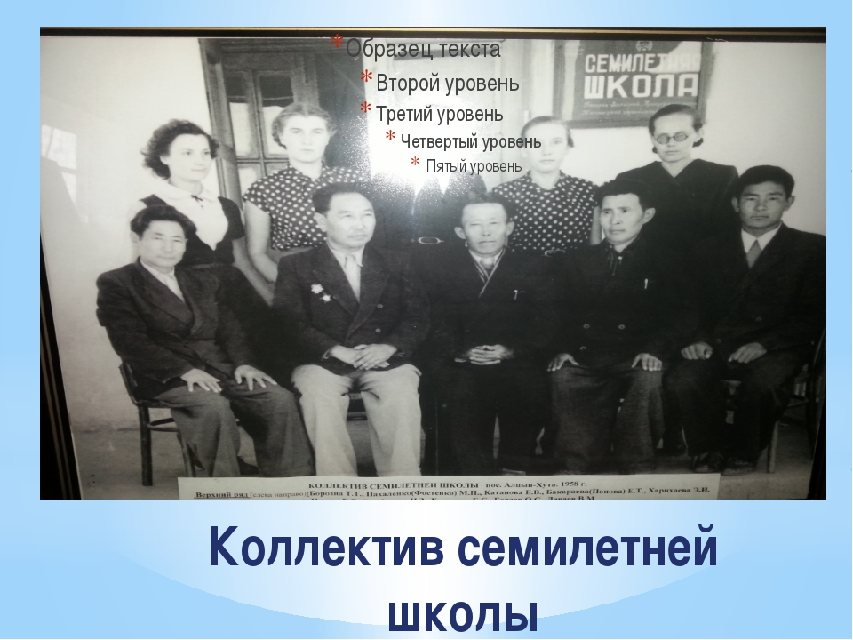 Коллектив семилетней школы