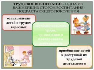 ознакомление детей с трудом взрослых приобщение детей к доступной им трудовой