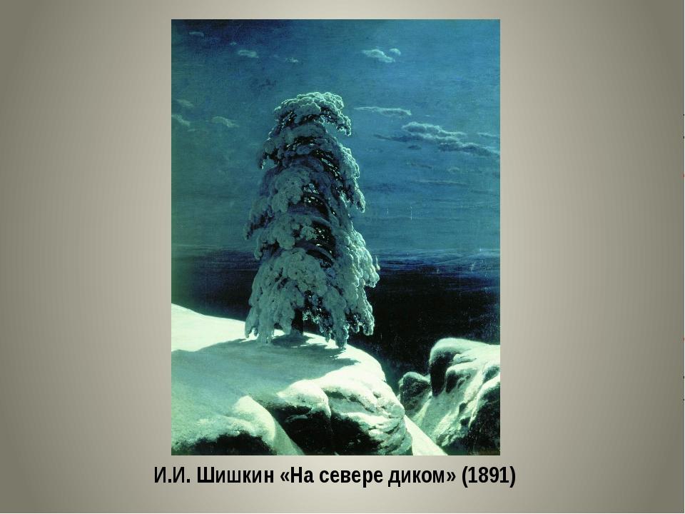 И.И. Шишкин «На севере диком» (1891)
