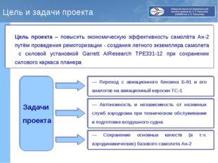 Цель и задачи проекта Цель проекта – повысить экономическую эффективность сам