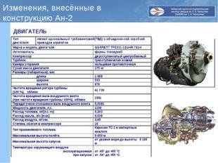 Изменения, внесённые в конструкцию Ан-2 ДВИГАТЕЛЬ