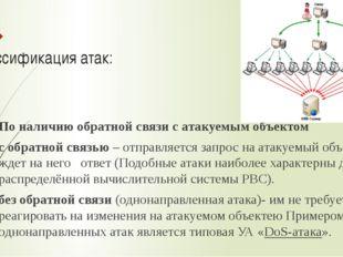 Классификация атак: По наличию обратной связи с атакуемым объектом с обратной