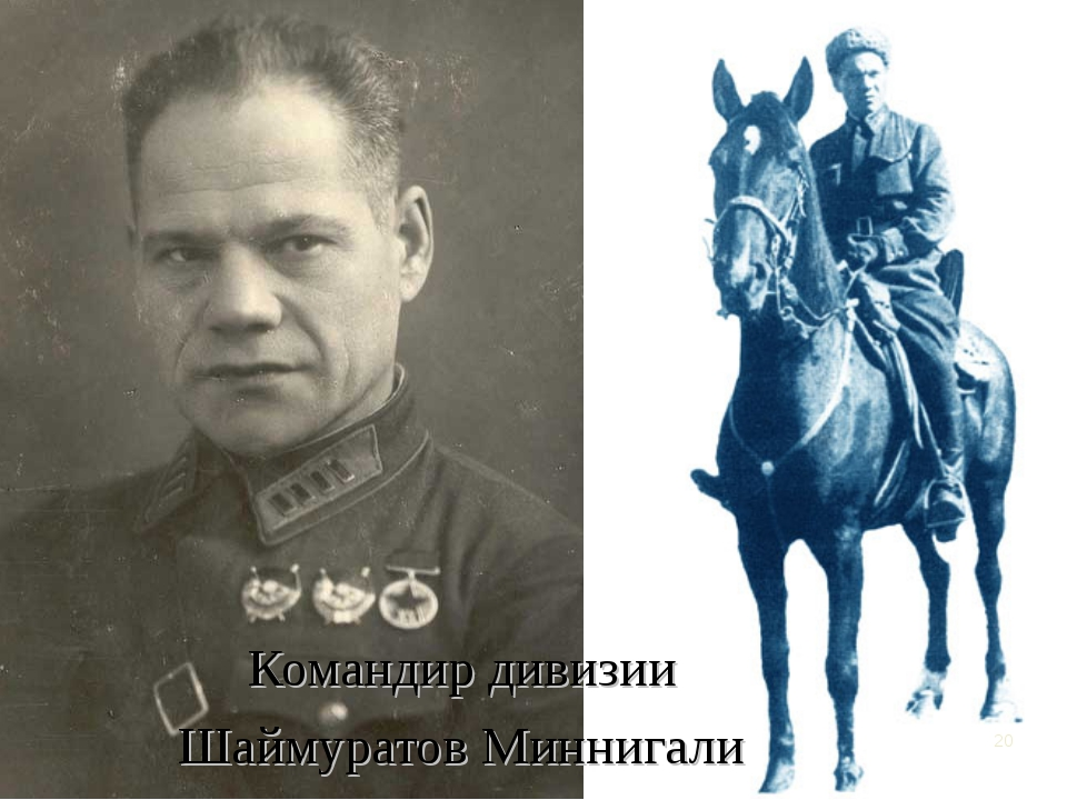 Командир дивизии Шаймуратов Миннигали *