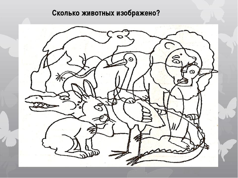 Сколько животных изображено?