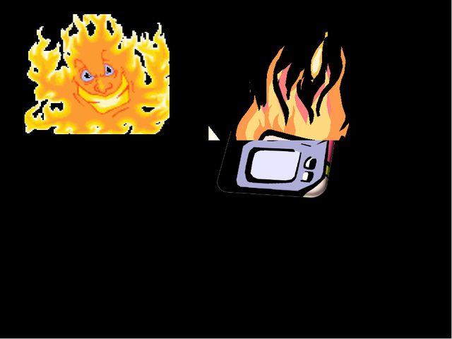 У вас загорелся телевизор. Какими должны быть ваши действия?