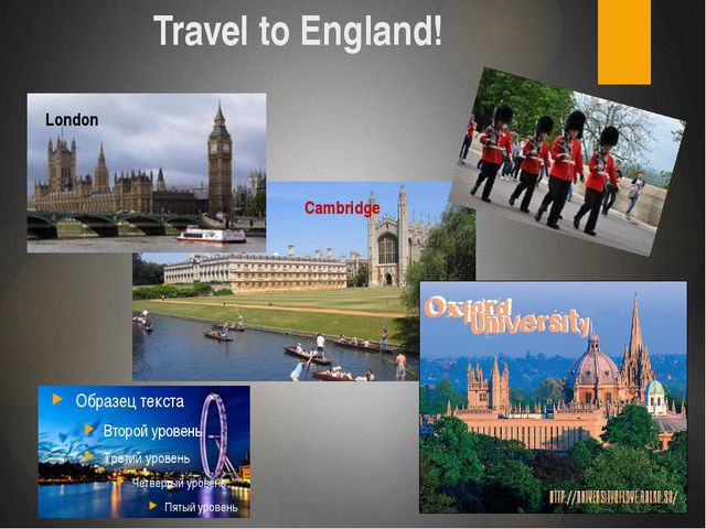 Travel to England! London Cambridge London