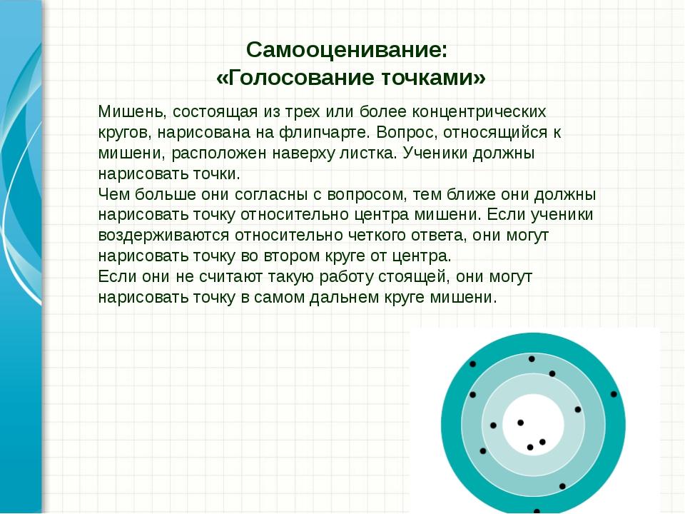 Мишень, состоящая из трех или более концентрических кругов, нарисована на фли...