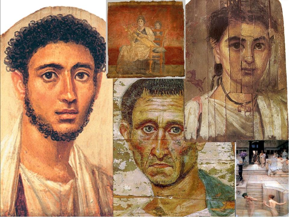 Живопись Эта отрасль искусства, подобно скульптуре, перешла вИталиюиз Греци...
