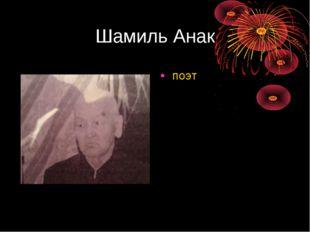 Шамиль Анак поэт