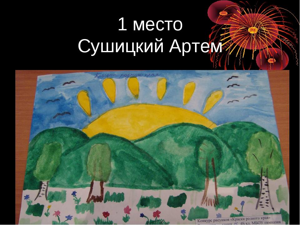 1 место Сушицкий Артем