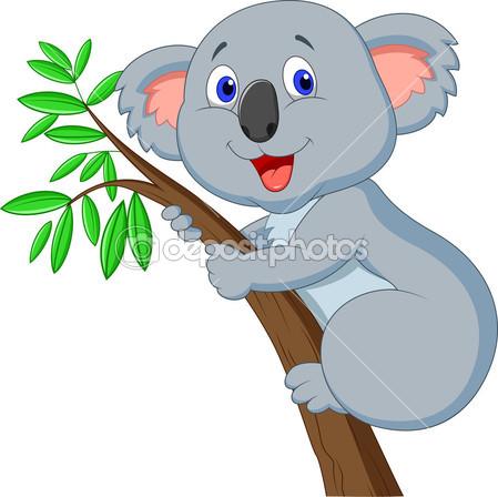 Мультфильм милый Коала — Cтоковый вектор #27384287