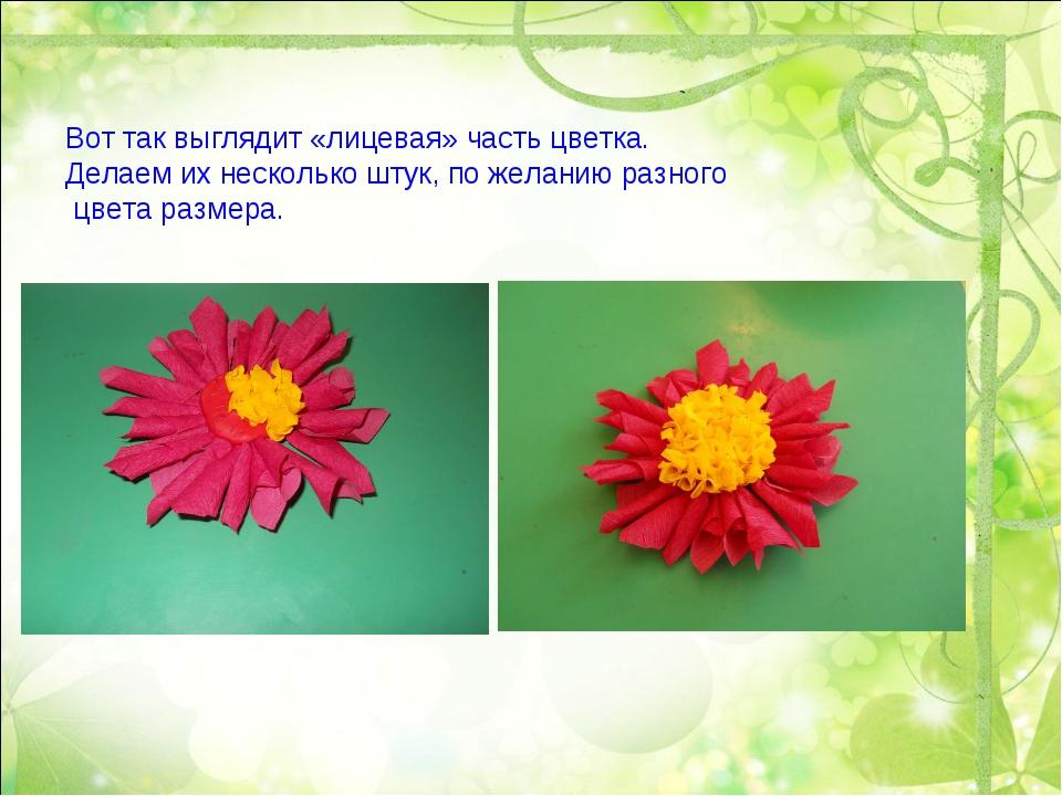 Вот так выглядит «лицевая» часть цветка. Делаем их несколько штук, по желанию...