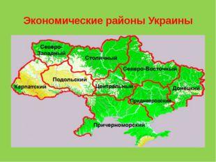 Экономические районы Украины