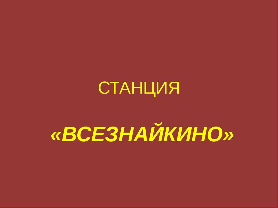 СТАНЦИЯ «ВСЕЗНАЙКИНО»