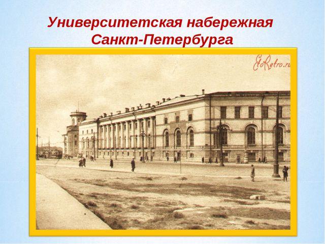 Университетская набережная Санкт-Петербурга