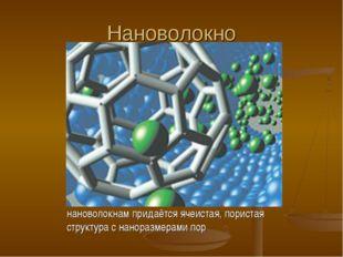 Нановолокно нановолокнам придаётся ячеистая, пористая структура с наноразмера