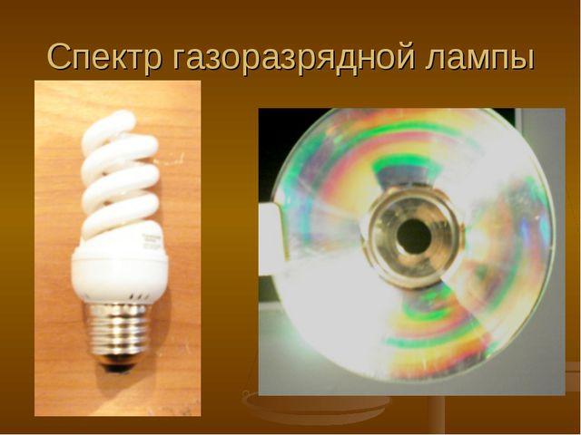 Спектр газоразрядной лампы