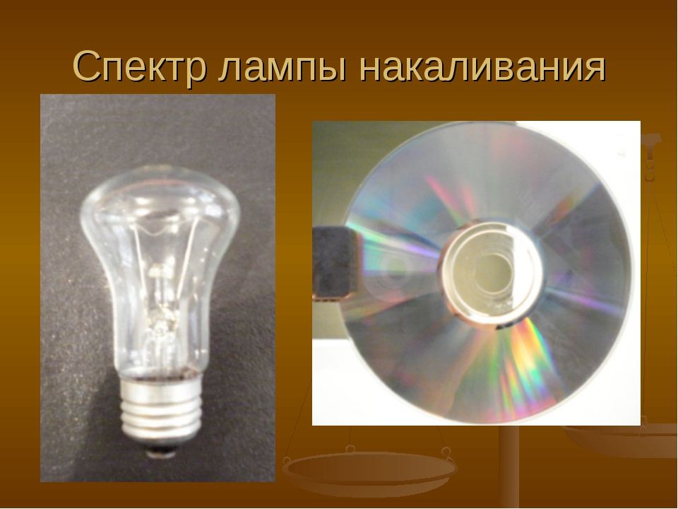 Спектр лампы накаливания