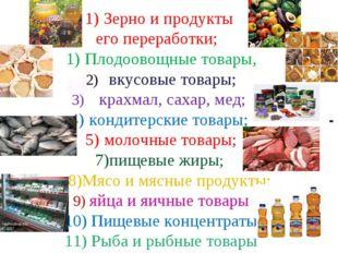 Зерно и продукты его переработки; Плодоовощные товары, вкусовые товары; крах