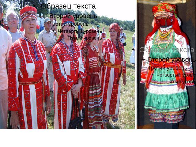 Эрзянский народныйэээ Эрзянский народный костюм. Костюм мокшанки.
