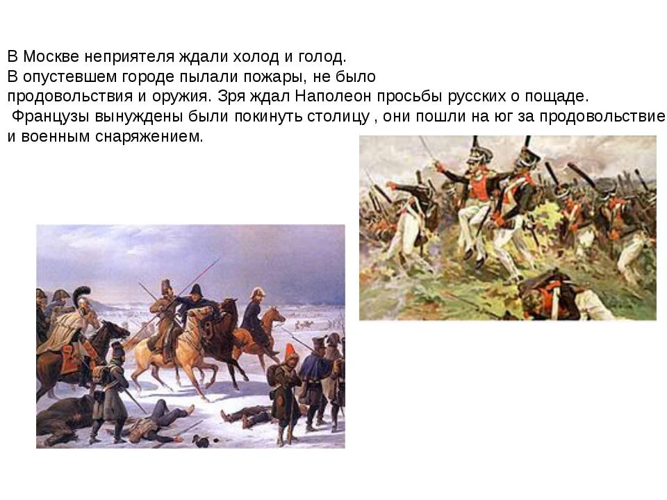 В Москве неприятеля ждали холод и голод. В опустевшем городе пылали пожары, н...