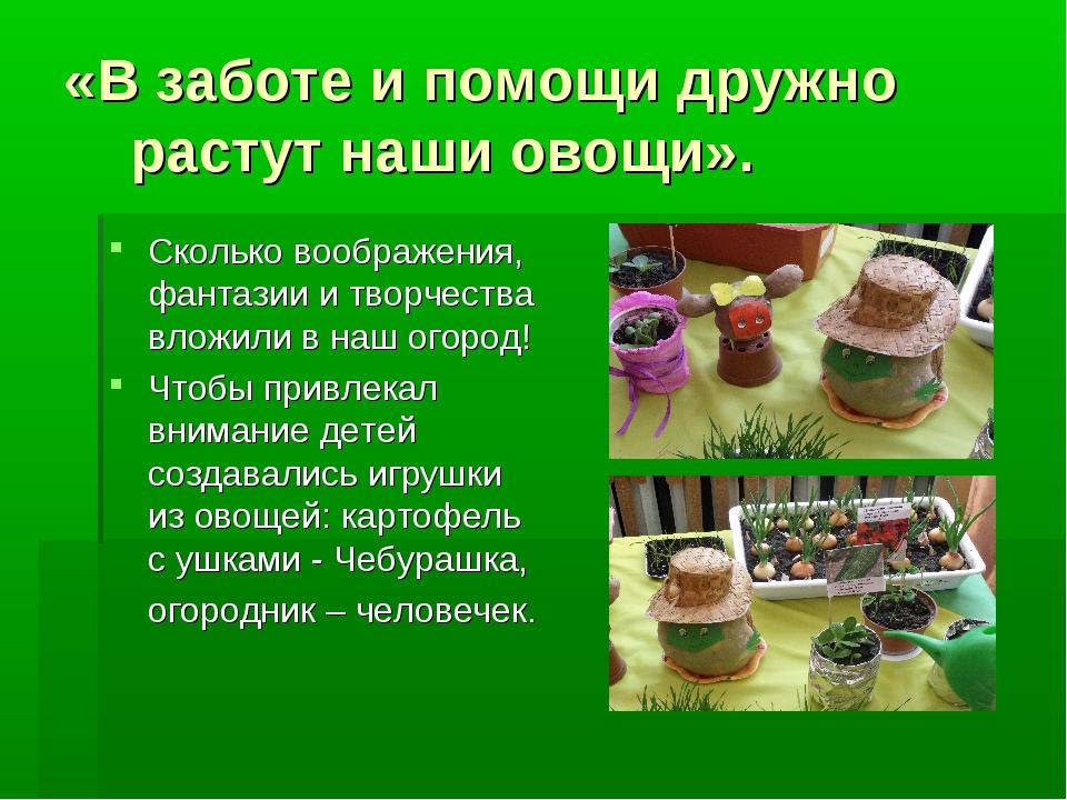 «В заботе и помощи дружно растут наши овощи». Сколько воображения, фантазии и...