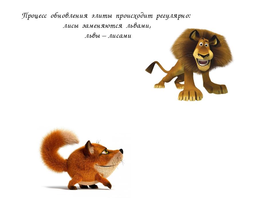 Процесс обновления элиты происходит регулярно: лисы заменяются львами, львы –...