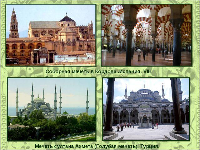 Соборная мечеть в Кордове .Испания. VIII в. Мечеть султана Ахмета (Голубая ме...