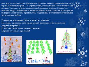 Мы, дети из экологического объединения «Истоки» активно принимаем участие в о