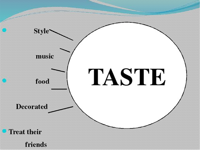 Style music food Decorated Treat their friends TASTE