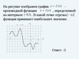 На рисунке изображен график - производной функции , определенной на интерва