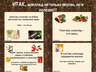 ИТАК, шоколад не только вкусен, но и полезен!!!