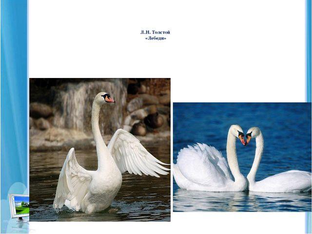 Л.Н. Толстой «Лебеди»