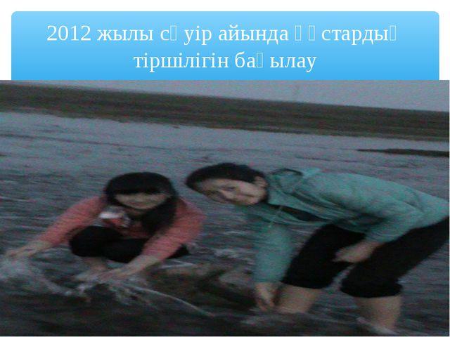 2012 жылы сәуір айында құстардың тіршілігін бақылау