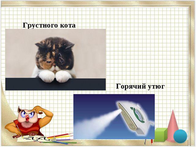 Грустного кота Горячий утюг