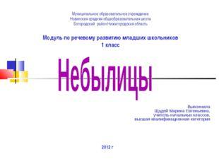 Муниципальное образовательное учреждение Новинская средняя общеобразовательна