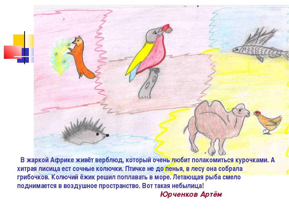 В жаркой Африке живёт верблюд, который очень любит полакомиться курочками. А...