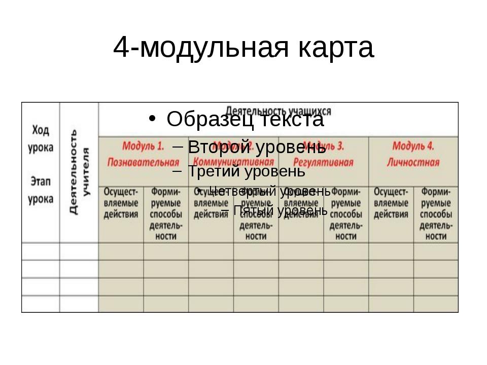 4-модульная карта