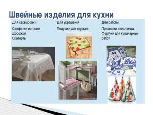 Швейные изделия для кухни Для сервировки Для украшения Для работы Салфетки из