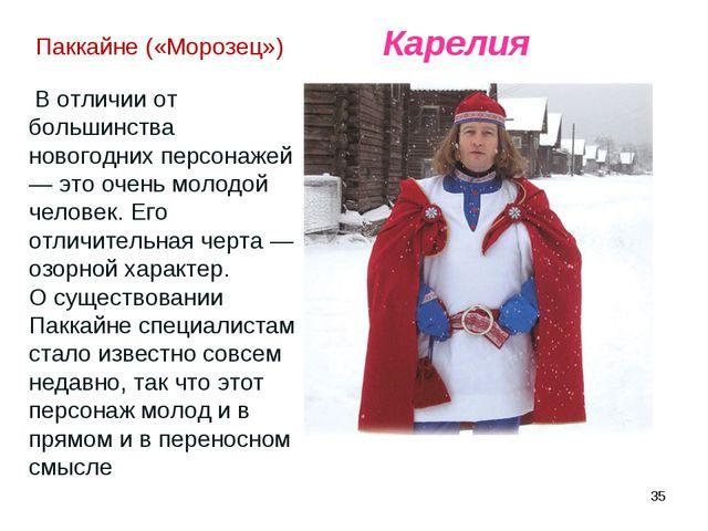 * Паккайне («Морозец») В отличии от большинства новогодних персонажей — это о...