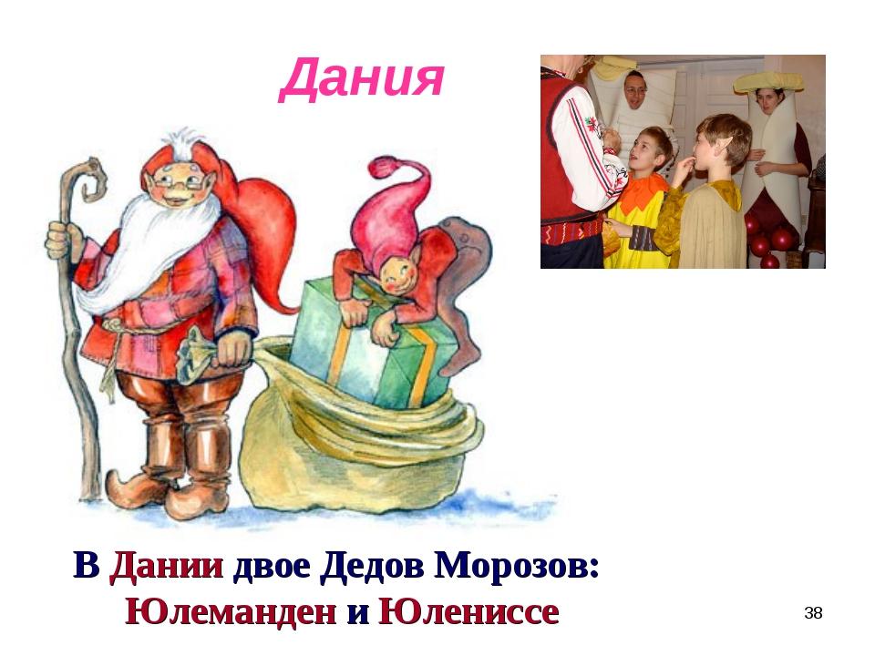 В Дании двое Дедов Морозов: Юлеманден и Юлениссе Дания *