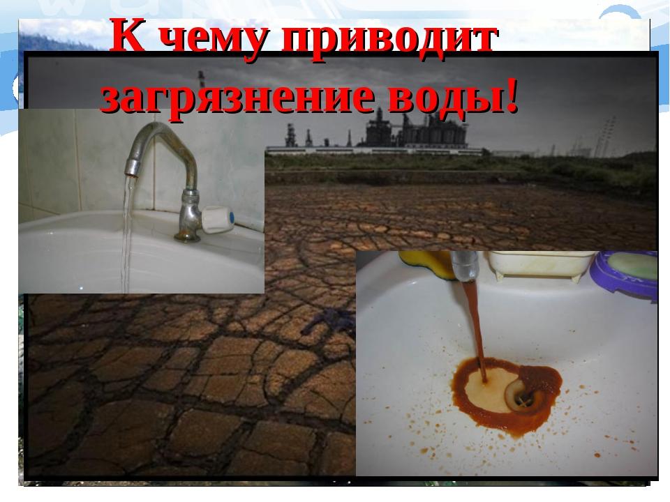 К чему приводит загрязнение воды!