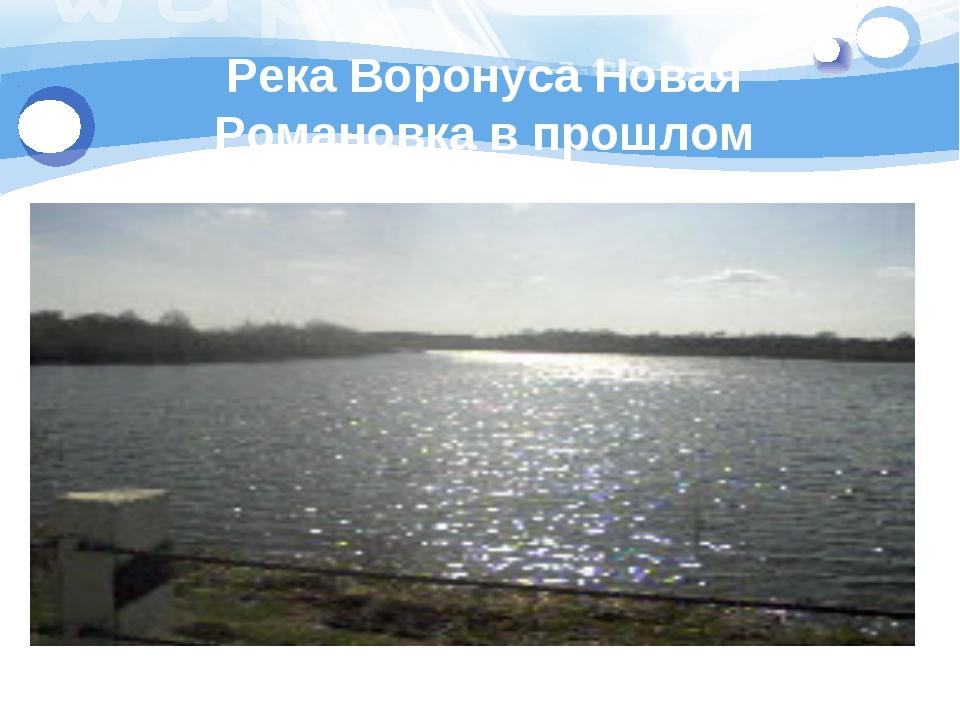 Река Воронуса Новая Романовка в прошлом