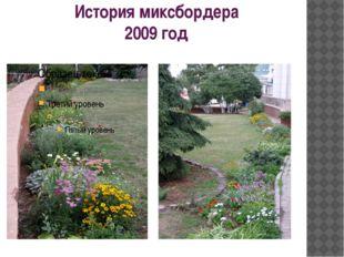 История миксбордера 2009 год