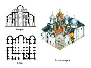 Аксонометрия Разрез План