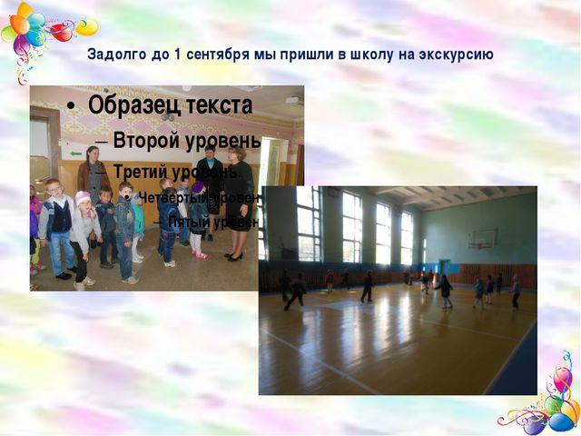Задолго до 1 сентября мы пришли в школу на экскурсию