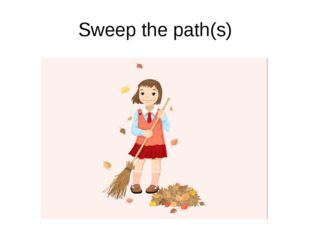 Sweep the path(s)