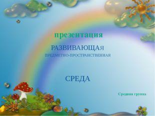 МАДОУ «Детский сад № 46» Средняя группа ПРЕДМЕТНО-ПРОСТРАНСТВЕННАЯ презентац
