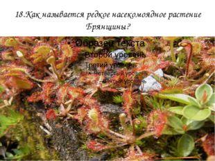 18.Как называется редкое насекомоядное растение Брянщины?